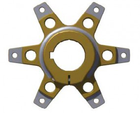 SPROCKET SUPPORT FOR Ø40MM AXLE with screws - T.G. ANOD.