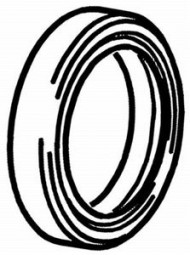 Simmerring K-Welle 25x38x7 mm Max